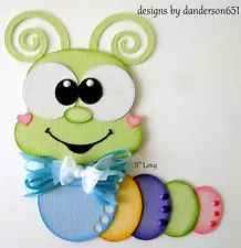 Caterpillar Bugs Paper Piecing PreMade 4 Border Scrapbook Album danderson651