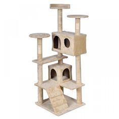 52' Cat Kitty Tree Condo Tower Scratching Post Furniture Play Pet House, Beige >>> New and awesome cat product awaits you, Read it now  : Furnitures that cats love