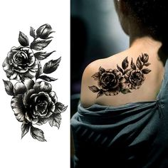 Waterproof Temporary Tattoo Sticker Rose Flower Personality Fake Tatto Sexy Flash Tatoo Hand Arm Foot Tato For Girl Women Men Great Tattoos, Trendy Tattoos, Body Art Tattoos, Girl Tattoos, Tattoos For Guys, Small Tattoos, Tatoos, Tribal Tattoos, Cover Up Tattoos For Women