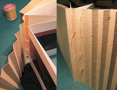 2010 - Lamellae binding on Hollan | by Cristina Balbiano d'Aramengo. Folding the concertina and mounting the lamellae