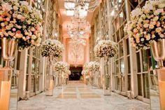 casamento branco rosa - Pesquisa Google
