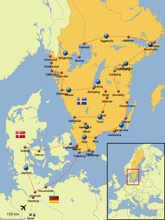 Roadtrip Schweden Travel Around Europe, Travel Around The World, Travel Route, Vacation Trips, Finland, Lappland, Travel Goals, Travel Tips, Norway Roadtrip
