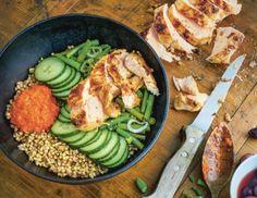Lemonlike roasted Chicken-Bowl Rezept