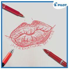 Oslavte mezinárodní den polibků s pery Pilot! Pilot, Den, Pilots