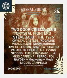 Crystal Fighters y Steve Aoki, nuevos cabezas de cartel para la edición de este año que tendrá lugar del 4 al 7 de agosto en la playa El Arenal. #ArenalSound