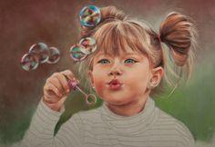 childrens portraits in pastel | Wolf Portraits