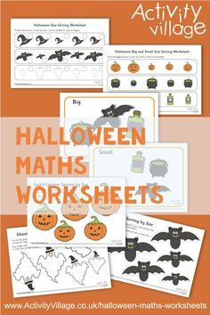 Sorting activities for Halloween - printables and worksheets Halloween Math Worksheets, Halloween Activities For Kids, Crafts For Kids, Halloween 2015, Halloween Crafts, Activity Village, Sorting Activities, Math Resources, Colouring Pages