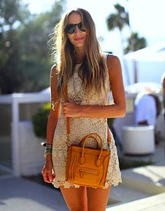 Coachella Fashion 2011 - Coachella 2011 Fashion and Style Pictures - Harpers BAZAAR Charlotte Rampling, Looks Style, My Style, Indie Style, Twiggy, Look Girl, Celine Bag, Celine Luggage, Alexa Chung
