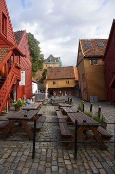 Cafe in Bergen, Norway's Bryggen
