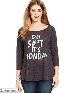 ON SALE: ING Plus Size Three-Quarter-Sleeve Graphic Tee http://fave.co/1Dxu9ZI