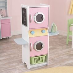Never seen a laundry play set before, love the colors! so cute for a playroom.This Pastel Laundry Play Set by KidKraft is perfect! Play Kitchens, Diy For Kids, Crafts For Kids, Pretend Play, Diy Toys, Toys For Girls, Play Houses, Kids Furniture, Furniture Decor