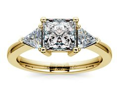Princess Trillion Diamond Engagement Ring in Yellow Gold  http://www.brilliance.com/engagement-rings/trillion-diamond-ring-yellow-gold-1/2-ctw