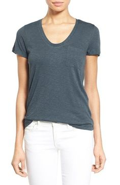 Free shipping and returns on Caslon® Relaxed Slub Knit U-Neck Tee (Regular & Petite) at Nordstrom.com. A gently rounded neckline, short sleeves and a chest pocket style a soft cotton-and-modal tee in a multitude of colors.