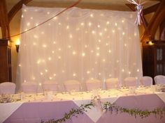 photo backdrop. We could use the bronze tulle and lights for this...