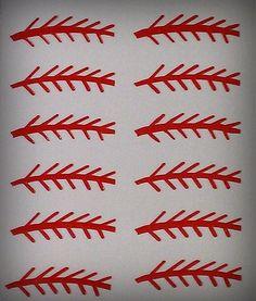 Baseball Stitches   Baseball Nail Designs - Baseballmomsrule.com