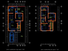 House of this accommodation: House design 2 floors autocad House Layout Plans, House Layouts, Architecture Portfolio, Architecture Plan, Architecture Diagrams, Architectural Floor Plans, Architectural Models, Architectural Drawings, 20x40 House Plans
