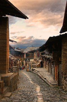 Evening in Shangri-La, Yunnan by Heather Prince (Hartkamp)