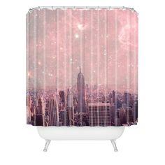 DENY Designs Bianca Green Stardust Covering New York Shower Curtain | AllModern