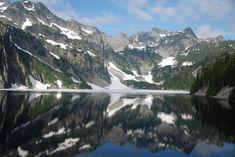 Snow Lake 7.2 mi roundtrip good for kids w/ waterfalls in Snoqualmie Pass, WA.