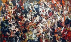 """Defile"", Jean-Paul Riopelle.    Once in a while..."