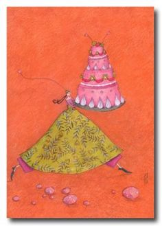 """Photo from album """"Gaelle Boissonnard"""" on Yandex. Illustration Artists, Food Illustrations, Pintura Graffiti, Art Carte, Happy Birthday Beautiful, Pretty Drawings, Special Pictures, Square Card, Doodle Sketch"""