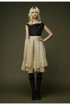 Organza Pleated Dress