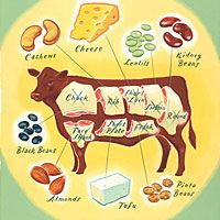 Don't Have A Cow  Runners cutting back on meat can get the protein they need--with smart choices.
