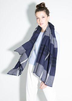 Sjaal met zachte afwerking