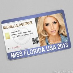 Michelle Aguirre Miss Florida USA 2013 Card