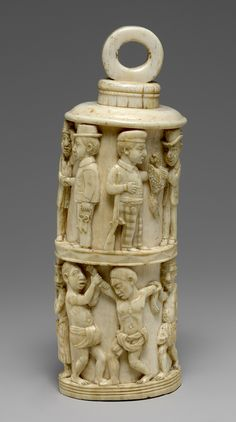 Altar and Finial, 19th century  Democratic Republic of Congo, Loango Region, Kongo peoples  Ivory