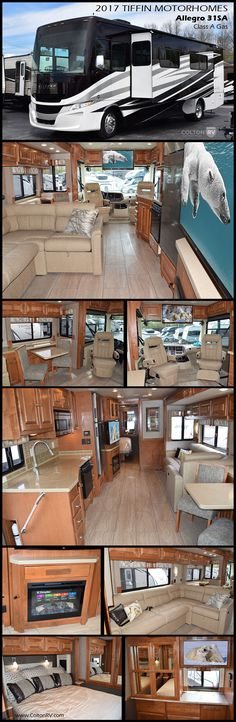 Enjoy each journey you take in this 2017 ALLEGRO 31SA Class A Gas Motorhome by Tiffin Motorhomes. You will find plenty of space with double slides, including a large living/dining area slide out and all the amenities you need to have the freedom to explore distant places in comfort!