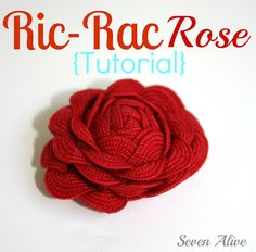 How to make a Ric-Rac Rose