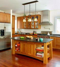 naturholzmöbel für die küche