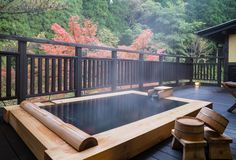 Relax and Energize. Ideal Bathrooms, Outdoor Bathrooms, Japanese Bath House, Japanese Hot Springs, Japanese Minimalism, Jacuzzi Outdoor, Relaxing Bath, My Dream Home, Architecture