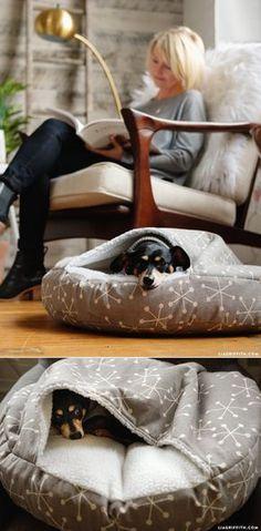 No gastes en una camita para perro, ¡hazla tú mismo!