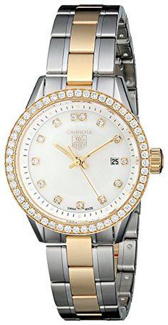TAG Heuer Womens THWV1451BD0797 Carrera Analog Display Quartz Two Tone Watch