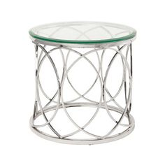 Juliette Clear Glass Side Table