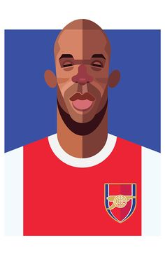 Qui Qui Qui, Je suis Titi. Thierry Henry, Arsenal FC | Football Players Vector Illustrations by Daniel Nyari.