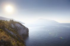 Ocean view from Lipari Island.