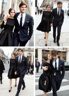 my style muse.love the matching classy his and her looks Olivia palermo.my style muse.love the matching classy his and her looks Classy Couple, Stylish Couple, Elegant Couple, Perfect Couple, Fashion Mode, Look Fashion, Fashion Trends, Wedding Couples, Cute Couples