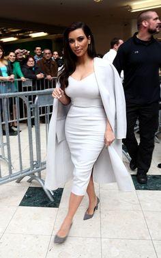 Hot! or Hmm...: Kim Kardashian's Vienna Opera Ball Press Conference Max Mara Spring 2014 White Dress and Coat | The Fashion Bomb Blog : Celebrity Fashion, Fashion News, What To Wear, Runway Show ReviewsThe Fashion Bomb Blog : Celebrity Fashion, Fashion News, What To Wear, Runway Show Reviews    174      35      1