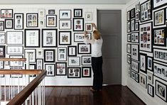 Love the multiple picture wall