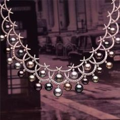 During London Fashion Week there's nothing more fitting than monochromatic city scenes that contrast pops of carnival colour in our Carnevale necklace! Pearl And Diamond Necklace, Diamond Pendant Necklace, Pearl Jewelry, Diamond Jewelry, Silver Jewelry, Diamond Necklaces, Sapphire Pendant, Gold Necklaces, Modern Jewelry