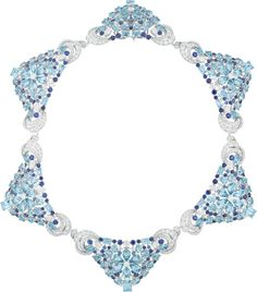 Van Cleef & Arpels Seven Seas: Van Cleef & Arpels Lagune Précieuse necklace with white gold, round, baguette-cut and pear-shaped diamonds, sapphires, round, octagonal, square-cut, oval-cut and pear-shaped aquamarines.