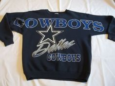 Dallas-Cowboys-Vintage-90s-Sweatshirt-heavyweight-Lee-XL-Blue-Made-in-USA