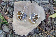 Aspen Leaf Earrings from Italian Moretti La by westernartglass, $40.00