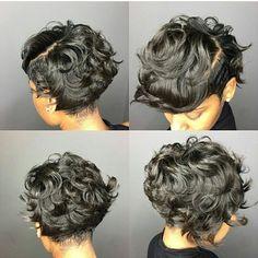Growing out pixie Pelo Natural, Natural Hair Care, Natural Hair Styles, Short Sassy Hair, Short Hair Cuts, Love Hair, Great Hair, Gorgeous Hair, New Flame