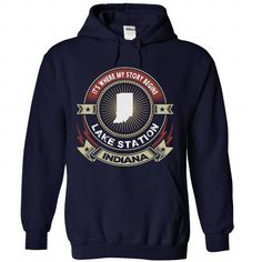 Indiana - Lake Station - Its where my story begins v^1^ - #shirt collar #sweater knitted. ADD TO CART => https://www.sunfrog.com/LifeStyle/Indiana--Lake-Station--It-NavyBlue-Hoodie.html?68278
