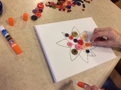 Button flowers! My residents with dementia loved this #dementia