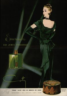 Emeraude by Coty. Very Duchess of Windsor. 1940s